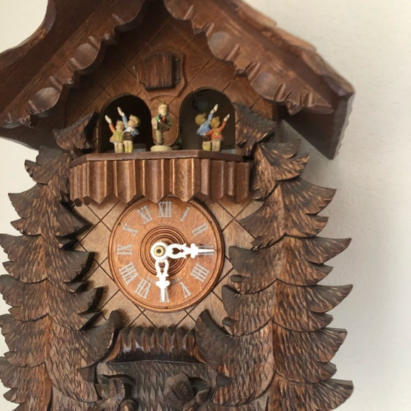 Hummel German Cuckoo Clock Wood. Black Forest